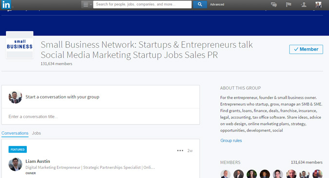 Linkedin Small Business Group