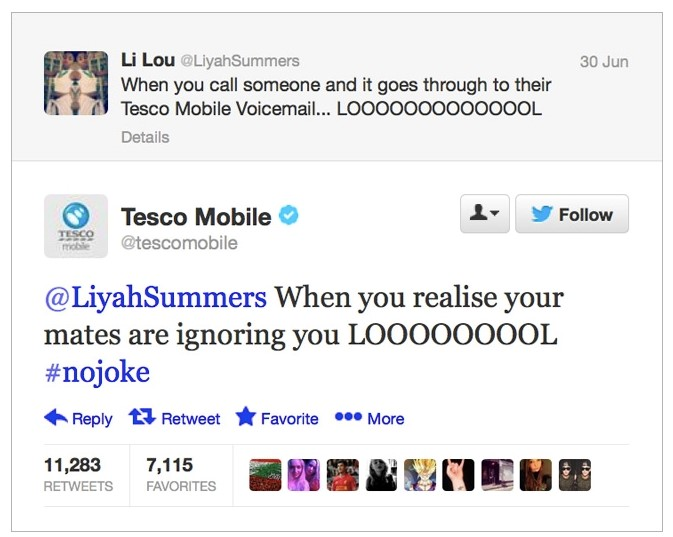 Tesco on Twitter
