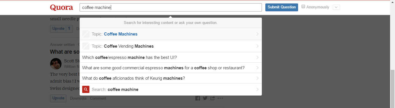 Coffee Machine Search Quora