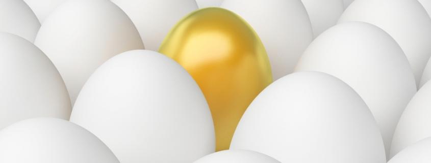 The Golden Egg amongst standard Eggs