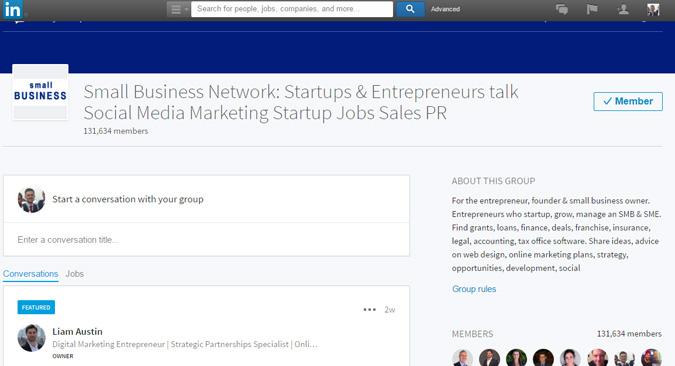 Linkedin Small Business Group