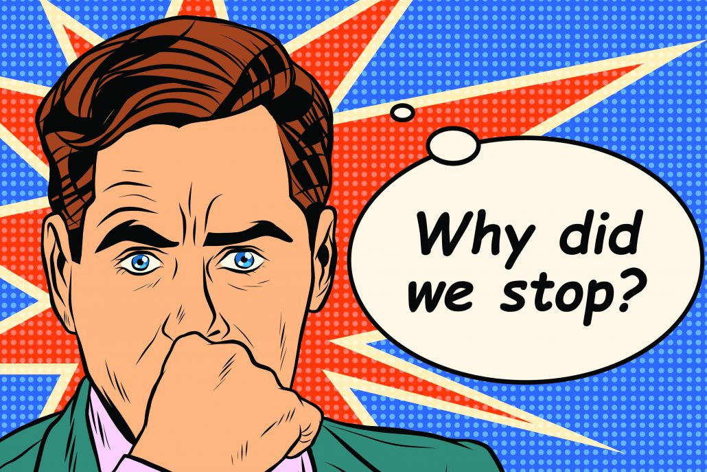 Realisation Cartoon of Why did we stop?