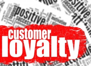 Customer loyalty phrase stand out