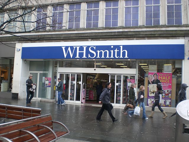 Exterior shot of WH Smith