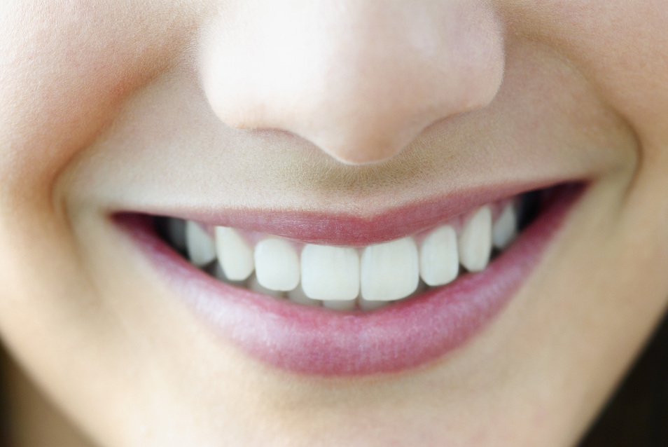 Close up of a happy customer's smile