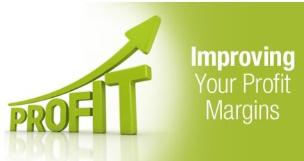 Improving your profit margins - words and graph