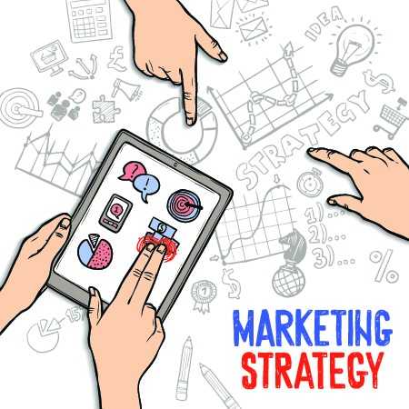 Illustration graphic representing developing a marketing strategy