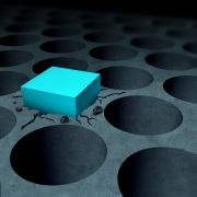 A cube being forced into a round hole